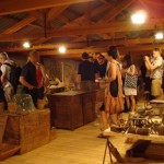 Visiting the folklore Museum of the Estate