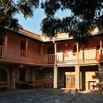 The courtyard of the Monastery of Skafidia